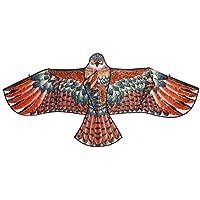Techinalスポーツ&アウトドア再生ビーチFun Eagle Kiteおもちゃ、子供に最適の凧、凧for Adults – Great初心者Kite – 59 x 27.56インチ