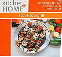 Grill Itテつョ, The Original Stove Top Grill, Smokeless Stovetop Indoor BBQ - High Quality Stainless Steel with Double Coated Non Stick Grilling Surface by Grill It