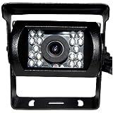 【ノーブランド品】 夜間暗視赤外線防水 18発LEDバックカメラ バスカメラ CCDカラーセンサー広角110度 12V24V対応20m延長ケーブル付属