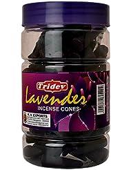 Tridev Lavender Incense Cones Jar 225グラムパック