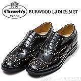 Church's【チャーチ】スタッズウイングチップシューズ BURWOOD MET 8746/01 A73754 BLACK(ブラック) (37)