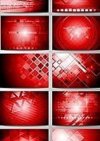 igsticker ポスター ウォールステッカー シール式ステッカー 飾り 210×297㎜ A4 写真 フォト 壁 インテリア おしゃれ 剥がせる wall sticker poster 001003 その他 模様 赤