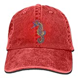 Cartoon Sea Horse Men's Women's Casual Hip Pop Baseball Cap Adjustable Cowboy Hat