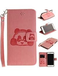 iPhone 6S Plus ケース iPhone 6 Plus ケース 財布 可愛いiPhone 6S Plus/ 6 Plus ケース 手帳型 BRAVODAY 人気 かわいいパンダ 便利 パンダ財布 手作り高級合皮...
