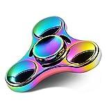 LUSCREAL 虹色ハンドスピナー 指スピナー ハンドすぴなー 人気 水道 Hand Spinner Fidget Spinner フォーカス 玩具 スピン ウィジェット 脳トレー 亜鉛合金 ストレス解消 民族 高品質 3~5分回転可