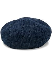 ベレー帽 春夏 帽子 レディース ブークレ サーモ メッシュ ワンカラー シンプル Boucleサーモベレー帽