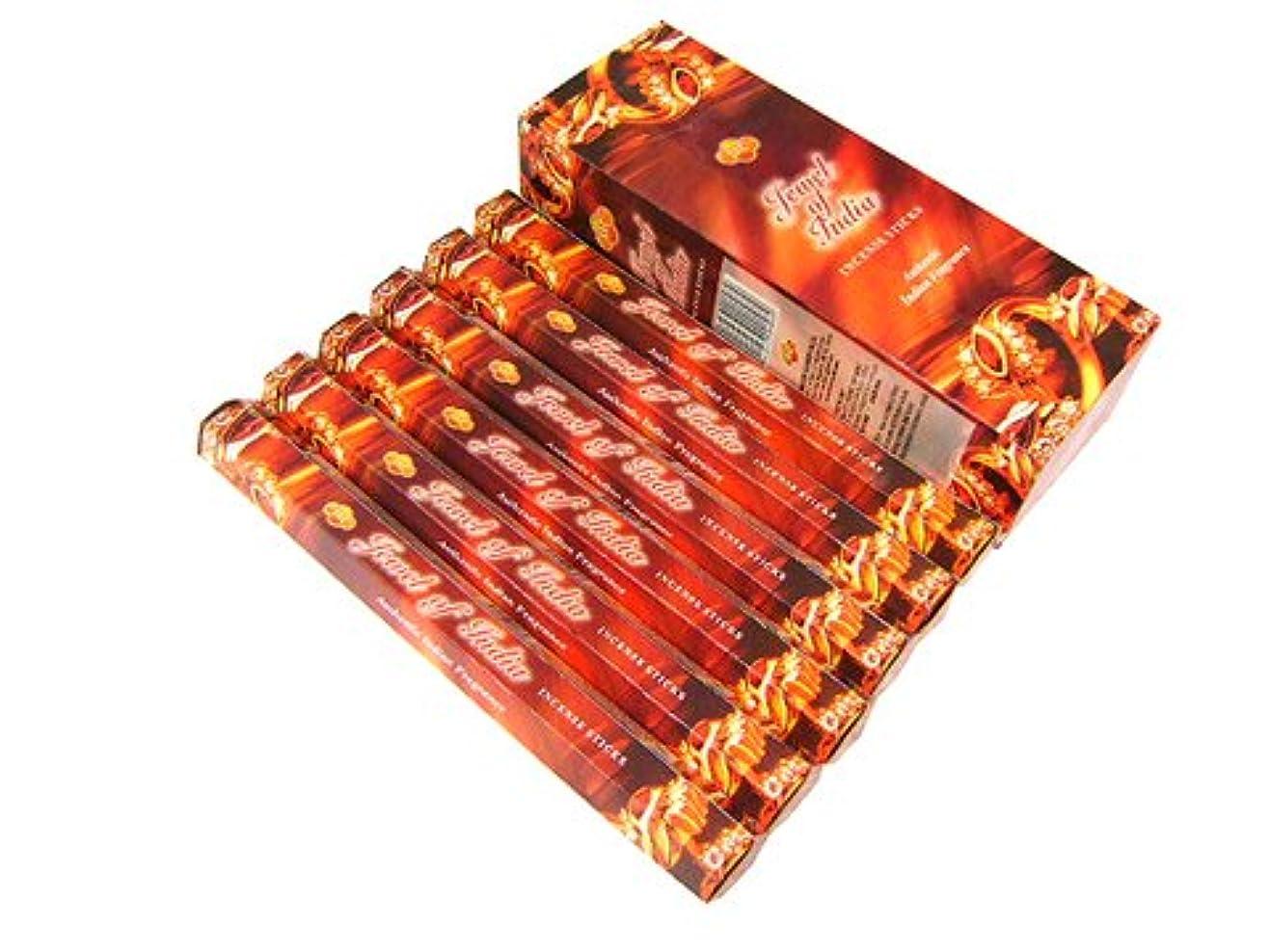 ピクニックキャンペーン使い込むSANDESH SAC (サンデッシュ) ジュエルオブインディア香 スティック JEWEL OF INDIA 6箱セット