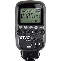 Godox xt32N 2.4Gワイヤレス電源制御フラッシュトリガートランスミッター、高高速同期1/ 8000s、32チャネル16グループfor Nikonカメラ( xt32N )