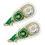 プラス 修正テープ ホワイパープチ クリームテープ 6mm WH-816Y 51-644 ×2