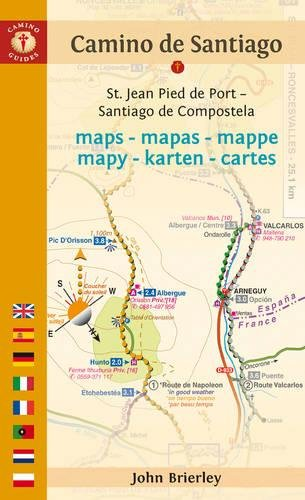 Camino Guides De Santiago Maps 2017: St. Jean Pied De Port--Santiago De Compostela