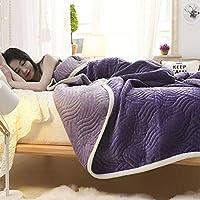 スーパー ソフト 加重 コーラルフリース 毛布 フランネル ぬいぐるみ 冬 暖かい スロー 毛布 綿 日 (秒) ソファ ベッド 毛布- 90cmx150cm