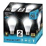 ルミナス LED電球 E26口金 60W相当 昼白色 広配光タイプ 密閉器具対応 2個セット CM-A60GN2