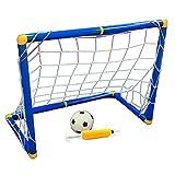 DeXopミニポータブル折りたたみゴールフットボールドアセット子供用屋外室内玩具サッカーセットサッカーゲート
