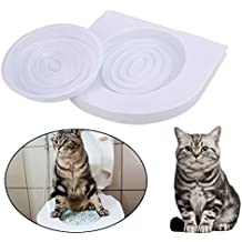 New Creative Cat Toilet Seat Litter Training System Kit Indoor Tool Supplies (Color: White)
