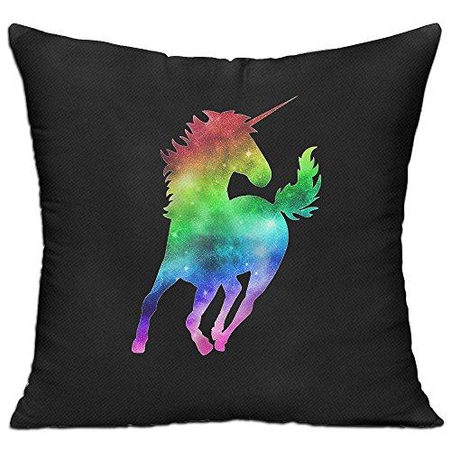 レインボーの一角獣 高品質 低反発 座布団 クッション 椅子用 かわいい オシャレ 寝具 中袋 中身:綿