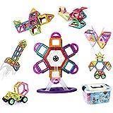 VOOPH マグネットブロック おもちゃ 磁気おもちゃ 磁石ブロック ピタゴラスおもちゃ 男の子 女の子 子ども ぶろっく オモチャ 子供 立体パズル 組み立て 幼児 オモチャ 積み木 DIY 知育玩具 学習玩具 図形 ビルディング積み木 磁気構造