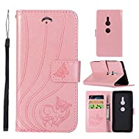 Case for Sony Xperia XZ2,Sony Xperia XZ2 Wallet Case,Abtory Folio Flip Leather [Stand Case] [Card Holder] with Kickstand Protective Cover for Sony Xperia XZ2 Light Pink