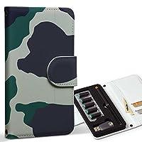 スマコレ ploom TECH プルームテック 専用 レザーケース 手帳型 タバコ ケース カバー 合皮 ケース カバー 収納 プルームケース デザイン 革 チェック・ボーダー 迷彩 カモフラ 模様 003784