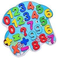 漫画象木製ジグソーパズルNumbers Early Learning Toys for Baby