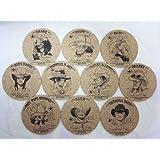 集英社 ナツコミ2010 キャンペーン ワンピース コルクコースター 全10種フルコンプセット