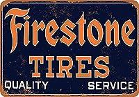 ファイアストーンタイヤ 金属板ブリキ看板注意サイン情報サイン金属安全サイン警告サイン表示パネル