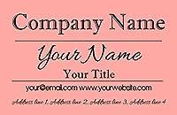 コーラルClassique Personalizedビジネスカード 100 Business Cards
