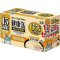 15歳からの健康缶 6P とろとろペースト ささみとまぐろ(1セット*12コセット) ペット用品 猫用食品(フード・おやつ) キャットフード(猫缶・パウチ・一般食) [簡易パッケージ品] k1-13376-ak