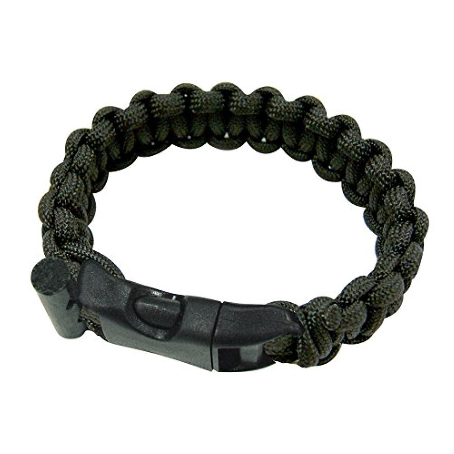 支出ストレスの多い星UST Paracord Bracelet with Fire Starter, Black, 8 by UST