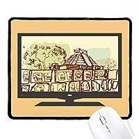 チチェンイツァメキシコ古代文明の描画 マウスパッド・ノンスリップゴムパッドのゲーム事務所