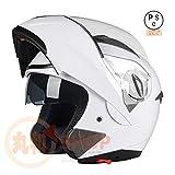 バイクヘルメット システムヘルメット フルフェイス ジェット ダブルシールド 今年バージョンアップBLD158[03.商品3/XL]