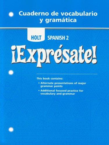 Download Expresate: Level 2 (Holt Spanish: Level 2) 0030744970