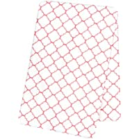 Trend Lab Coral Quatrefoil Deluxe Flannel Swaddle Blanket by Trend Lab [並行輸入品]