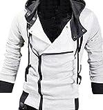 (アルファーフープ) α-HOOP メンズ ファッション アウター 襟 広め フード 付き パーカー ジャケット M ~ XXL まで 大きい サイズ も 大人 男 性 用 DP-1 (05.白(Mサイズ.))…