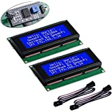 GeeekPi 2Pack LCD 2004 Module with I2C Interface Adapter Blue Backlight 2004 20x4 LCD Module Shield for Raspberry Pi Arduino