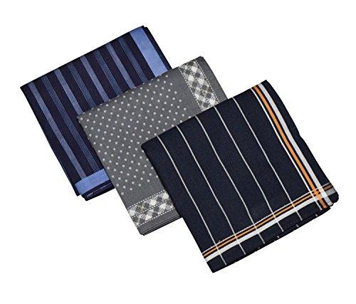 日本製 メンズ ハンカチ 綿100% 大判 45cm 3枚 5枚 セット (3枚セット)