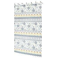 かわいい小花柄のカーテン。 カーテン ポタリー 105×178cm ネイビー 12219871123 〈簡易梱包