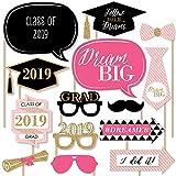 Dream Big - Graduation Photo Booth Props Kit - 20 Count