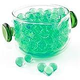 ぷよぷよボール,水で膨らむビーズ カラフルジェリーボール 綺麗なボール 観葉植物 水耕栽培 培養土類/景品玩具 ガーデニング お祭り 縁日 お祝い 面白い 可愛い ギフト プレゼント1ボトル 10000pcs 6色 (グリーン)