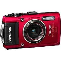 OLYMPUS デジタルカメラ STYLUS TG-4 Tough レッド 1600万画素CMOS F2.0 15m 防水 100kgf耐荷重 GPS+電子コンパス&内蔵Wi-Fi TG-4 RED