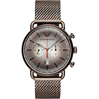 Emporio Armani Men's AR11169 Chronograph Quartz Brown Watch