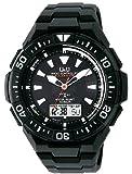 [シチズン キューアンドキュー]CITIZEN Q&Q 電波ソーラー腕時計 SOLARMATE (ソーラーメイト) アナログ表示 クロノグラフ機能付き 10気圧防水 ウレタンバンド ホワイト×ブラック MD06-302 メンズ