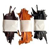 【副資材】 栃木レザー ハギレ スクラップレザー (細切れ3色ミックス) (450g) (3色MIX)キャメル チョコ ブラック