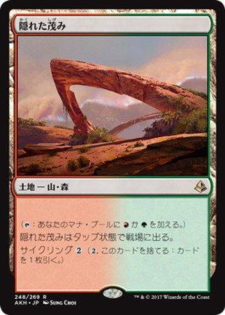 【シングルカード】AKH)[JPN]隠れた茂み/土地/R/248/269
