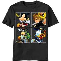 Kingdom Hearts The 4KingsメンズブラックTシャツ