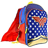 DC Wonder Woman 16 Gold Foil Backpack with Cape