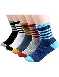 LILY CUPS スポーツ 靴下 キッズ カラーフル 5足セット スポーツ 靴下 男の子 女の子 スポーツ ソックス 男の子 女の子 登園 通学