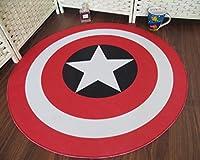 カーペットソファコーヒーテーブルマットリビングルームカーペットベッドルームのベッドサイドラウンドマット(4色オプション) (色 : B, サイズ さいず : 140CM)