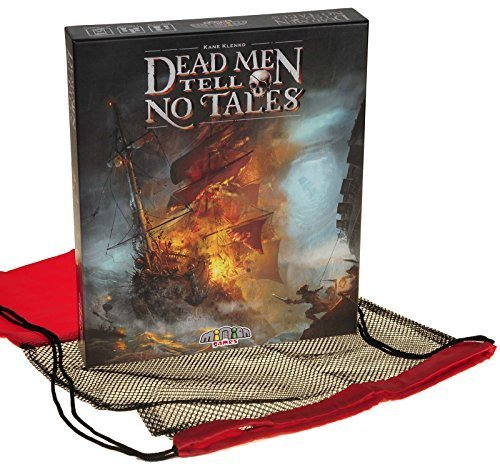 Dead Men Tell No Tales _ 2 to 5 Player Cooperative Board Game _ Bonus Black Mesh / Red Nylon Drawstring Carry Bag _