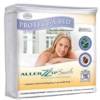 (Queen : Depth 10cm - 23cm ) - AllerZip Smooth Anti-Allergy & Bed Bug Proof Mattress or Box Spring Encasement