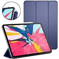 DTTO iPad Pro 11インチケース 2018 強力磁気ウルトラスリム 三つ折りスタンドケース 軽量スマートカバー オートスリープ/ウェイク Apple Pencil充電サポート] iPad Pro 11インチ用, CS-iPad Pro 11 case-Navy Blue